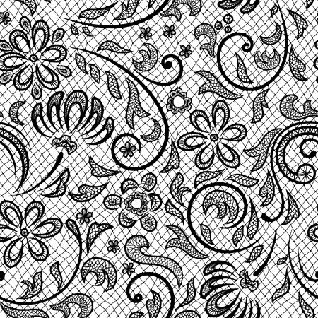Beautiful floral pattern stylized like laces