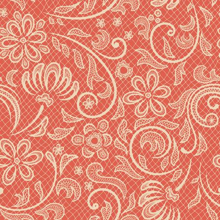 lacework: Beautiful floral pattern stylized like laces