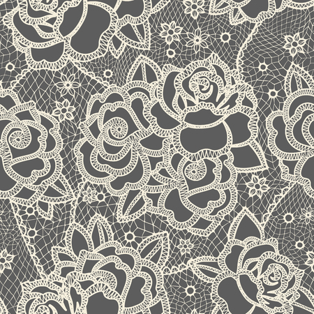 abstract rose: Seamless pattern stylized like laces