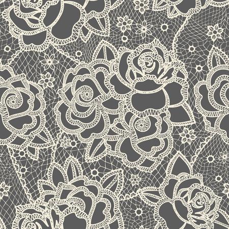 motif floral: Seamless stylisée comme lacets