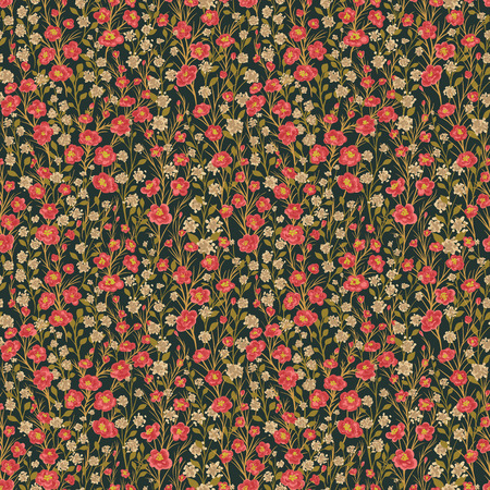 small flowers: Seamless pattern with small flowers