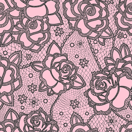 Seamless pattern stylized like laces Banco de Imagens - 45582875