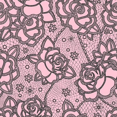 retro lace: Seamless pattern stylized like laces