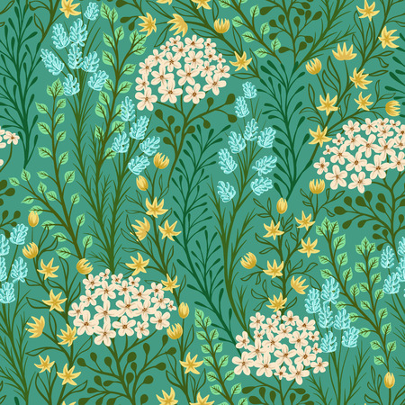 spring: Seamless pattern with small flowers