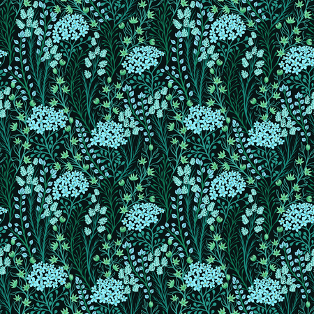 Seamless pattern with small flowers