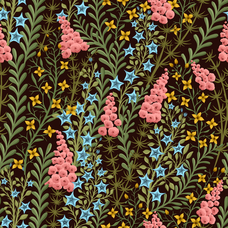 small: Seamless pattern with small flowers