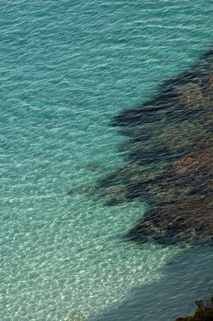 corsica: Sea Landscape of Corsica, France. Abstract detail of water.