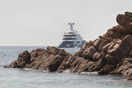 super yacht: Super Yacht nel sud della Corsica, Francia. Archivio Fotografico