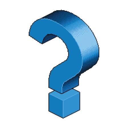 等尺性ピクセル疑問符 写真素材 - 70911987