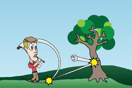 復讐ボール ゴルフ漫画
