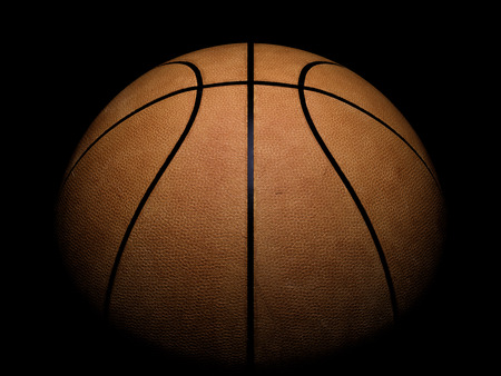 Basketball close-up on black background 免版税图像