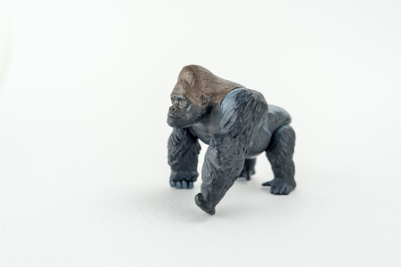 Male gorilla toy isolated