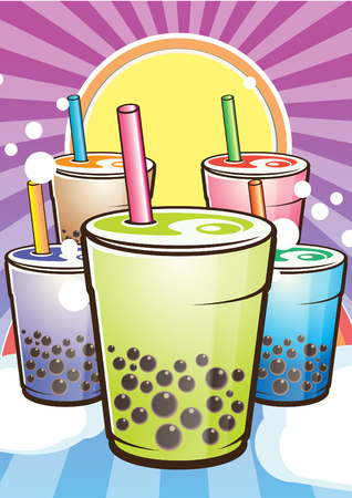 pearl tea: Pearl Milk Tea Poster