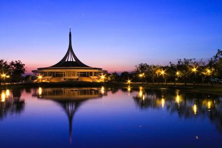 Building enneagon, Suan Luang Rama IX, Park in Bangkok, Thailand photo