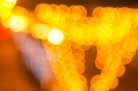 bright: Abstract golden bokeh light background Stock Photo