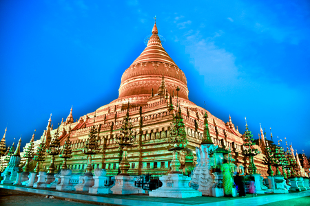 a pagoda in ancient city on the twilight time, Myanmar Stockfoto