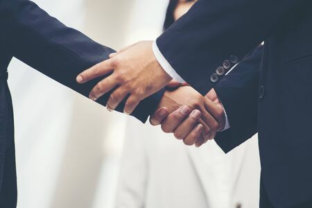 Trustworthy Business are Valuable for Responsible Collaboration Business Teamwork. Dealing Business Motivated Honest Businessman is Appreciation in Team work. Congratulation Trustworthy Concepts 스톡 콘텐츠