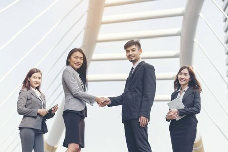 Habits of Leaders Who Inspire Loyal Businessman with Loyalty.Leaders still excel at remarkable loyalty customer help collaboration teams dependable  true value customer.  Loyalty Leadership Concept Stock Photo