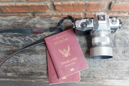 Travel Planning .. how to make a journey begin with Travel accessories, Passports, camera, budget. The cost of travel maps prepared for the trip. Journey and Travel concepts.