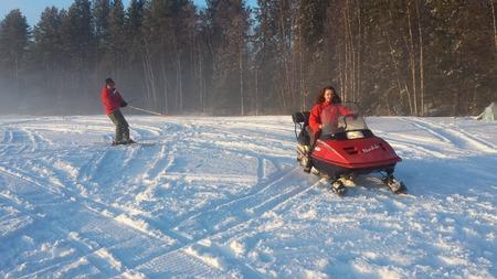 frozen lake: Snowmobile Frozen Lake, Vilhelmina, Sweden