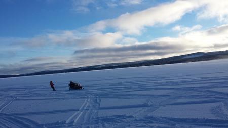 frozen lake: Frozen Lake, Vilhelmina, Sweden
