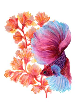 Watercolor Gouache beautiful Asian Chinese Japanese 