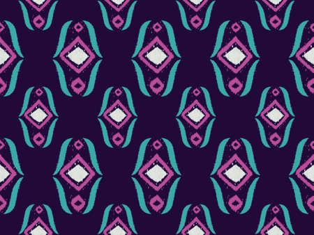 Geometric ethnic embroidery repeat pattern seamless colorful oriental.  Design digital clipart for fabric, curtain, carpet, wallpaper, clothing, wrapping, Batik, ,fashion