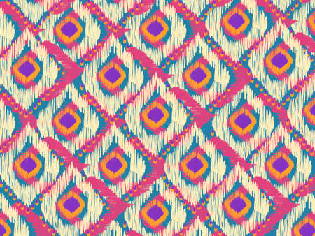 Geometric ethnic oriental ikat pattern traditional Peacock shape Design for background,carpet,wallpaper,clothing,wrapping,Batik,fabric
