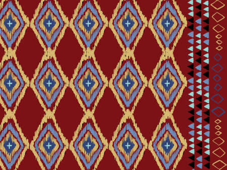 Geometric ethnic oriental ikat batik pattern embroidery traditional Design for background,carpet,wallpaper,clothing,wrapping,decorate