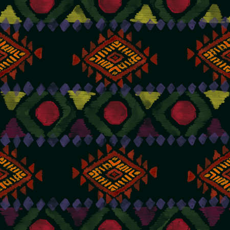 Ethnic afican seamless pattern Horizontal stripes colorful print for your textiles wrapping paper  card digital clipart illustration 版權商用圖片