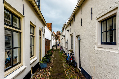 Narrow Street in Dutch Fishing Village photo