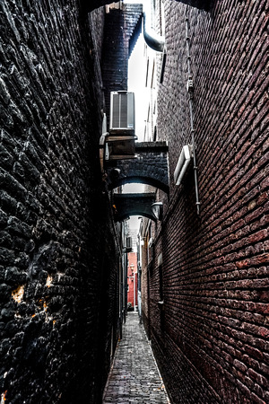 Narrow alley in the old city
