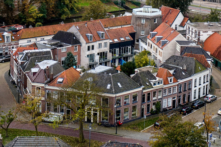 close knit: A close knit community in Zwolle, the Nethelands Stock Photo