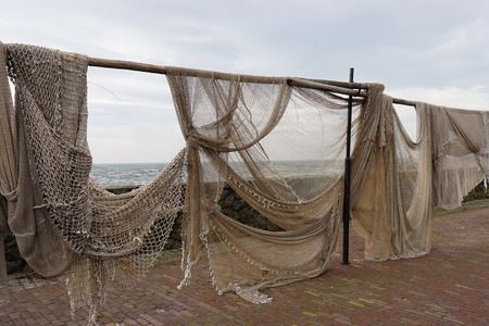 Commercial Fishing Nets hung out to dry photo