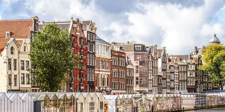 tilted view: Historic houses along the Bloemensingel in Amsterdam