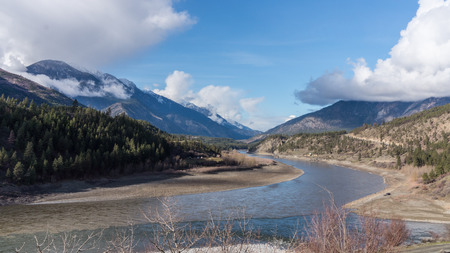 fraser river: Quiet Part of the Fraser River near Lytton