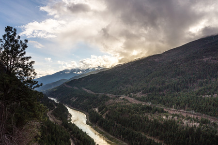The Fraser River Winding through the Canyon on its Way to the Pacific photo