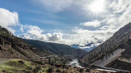 Trains in the Fraser Canyon photo