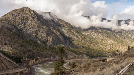 View of the Rugged Mountains in the Fraser Canyon photo