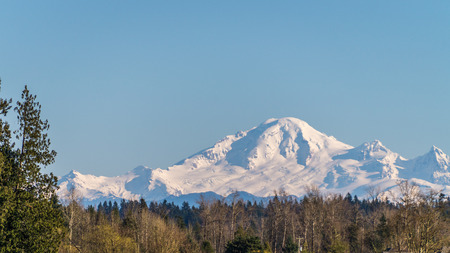 mount baker: Mount Baker seen from the township of Langley in the Fraser Valley of British Columbia.