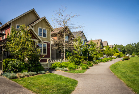 quiet: Suburbia in Fort Langley a historic village in the Fraser Valley of British Columbia Stock Photo