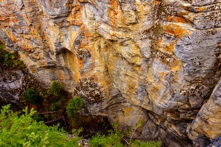alberta: Maligne Canyon in Jasper National Park in Alberta Canada