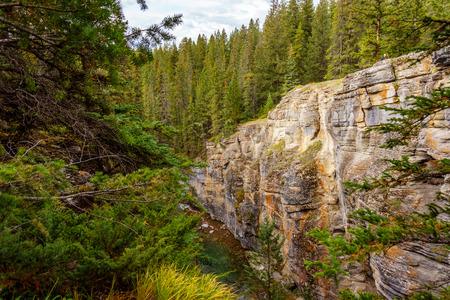 jasper: Maligne Canyon in Jasper National Park in Alberta Canada