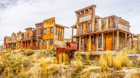 Old Western Ghost Town Stock Photo