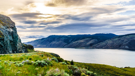 shrubbery: Sunset over Kamloops Lake along the Trans Canada Highway