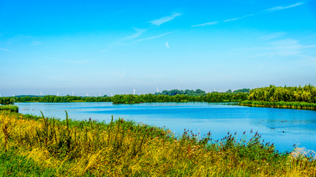 The Veluwemeer near the town of Nijkerk in the Netherlands