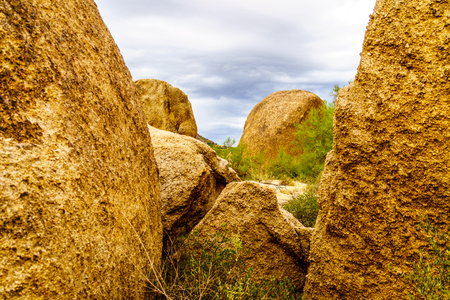 Large Rocks and Boulders in the desert near Carefree Arizona