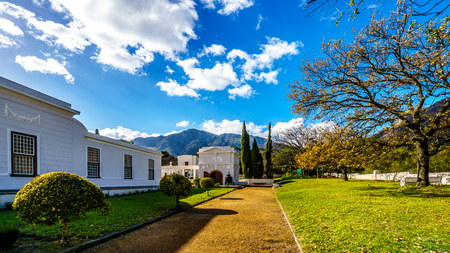 The historic Buildings of the Huguenot Museum in the town of Franschhoek in the Western Cape