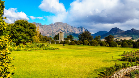 The historic Huguenot Monument in the town of Franschhoek in the Western Cape Reklamní fotografie