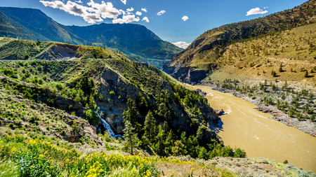 View of the Fraser River as it flows to the town of Lillooet in the Chilcotin region on British Columbia